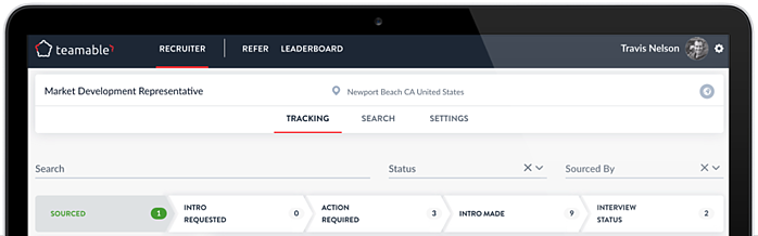 teamable consolidated pipeline for tracking referrals